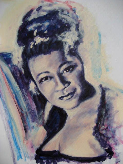 Lady sings the blues - Acrylic on canvas - 50x60cm - Private collection