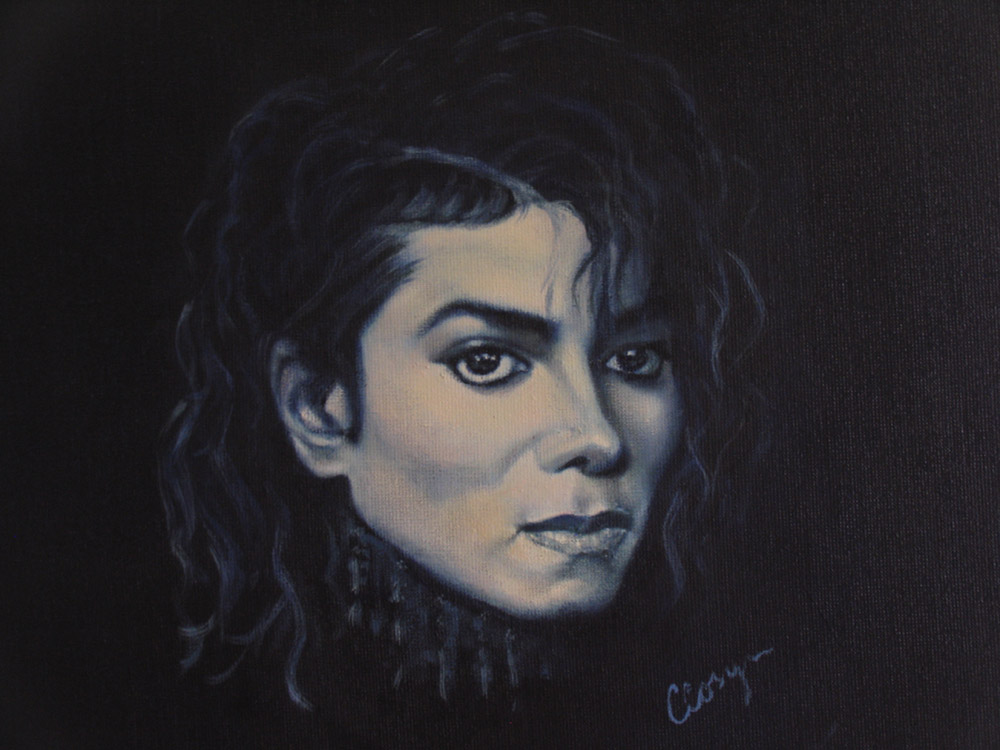 Michael Jackson - Acrylic on linen - 50x60cm - Private collection