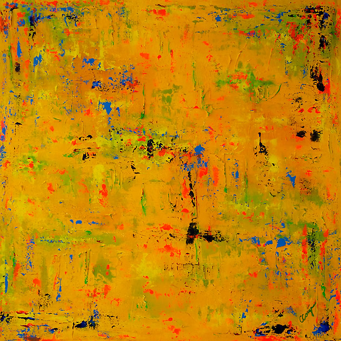 Arubian Yellow - Mixed Medium - Acrylic & Oil - 100x100cm